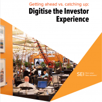 Getting ahead vs catching up: Digitalise the investor experience