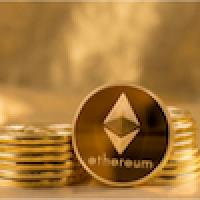 Picture of an ethereum coin
